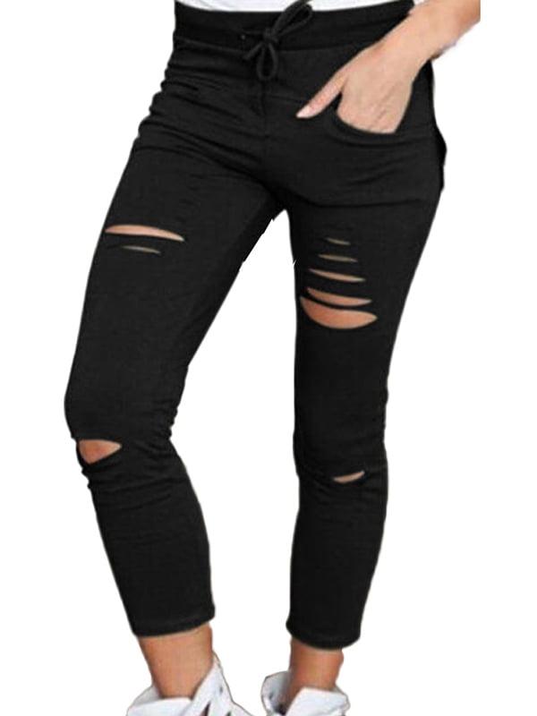 Sweetsmile Women Skinny Jeggings Stretchy Long Pants Leggings Pencil Pants Tight Trousers