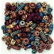 Chenille Kraft Exotic Plastic Beads, Assorted Colors, Pack of 170