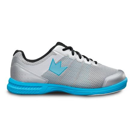 Brunswick Mens Fuze Bowling Shoes- Silver/Sky Blue 11 M (Blue Mens Bowling Shoes)