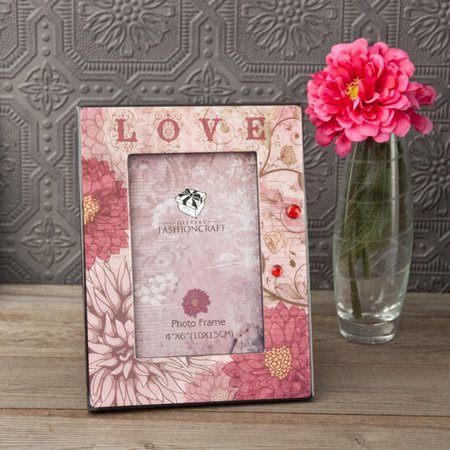 Fashion Craft Love Floral Picture Frame