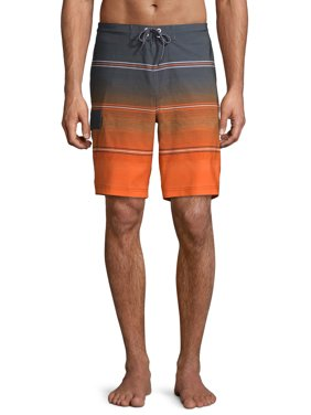 "George Men's and Big Men's 9"" Gradient Board Shorts, up to Size 3XL"