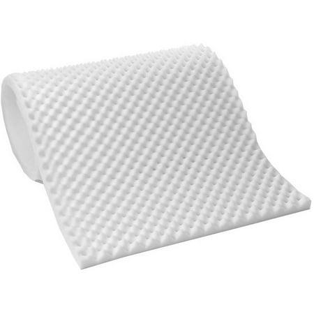 Lightweight Textured Eggcrate Foam 1/2 Mattress Topper Pad, All Sizes