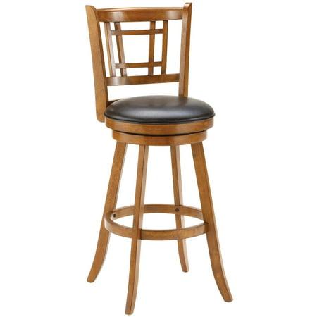 Hillsdale Furniture Fairfox Swivel Bar Stool Medium Oak