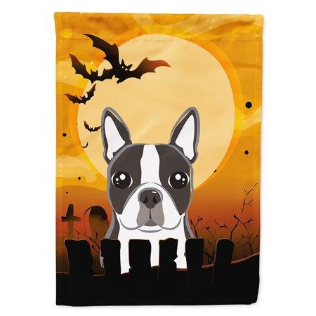Halloween Boston Terrier Flag Canvas House Size - Boston Concert Halloween