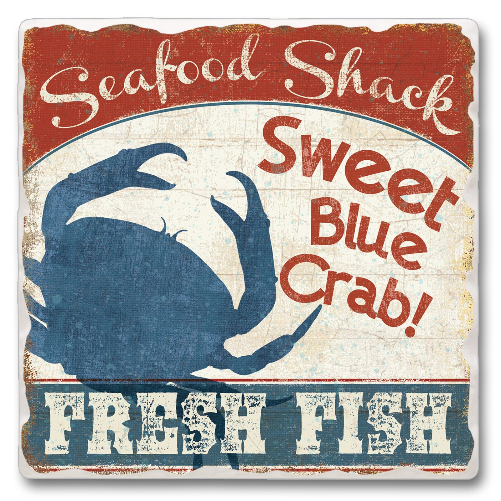 Sweet Blue Crab Fresh Seafood Shack Kitchen Dining Room Absorbent Stone Trivet