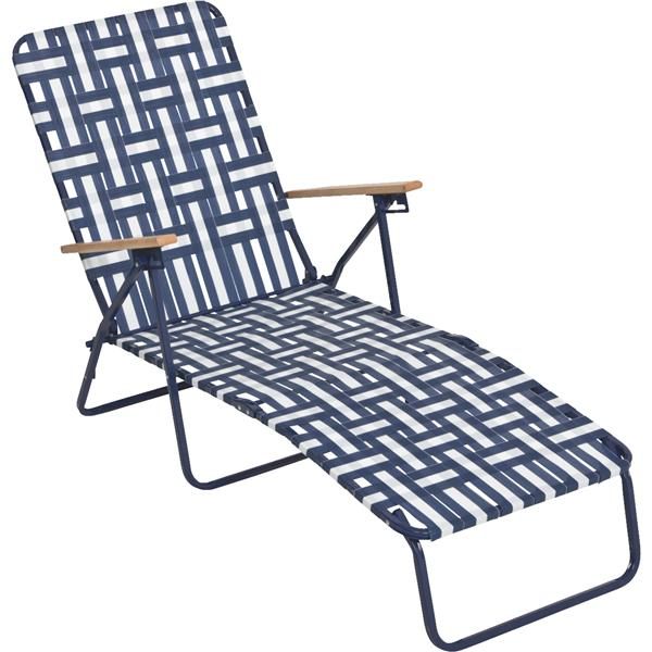 Rio Brands Web Chaise Lounge Adjustable Backrest Blue/White Steel 240 lb.  sc 1 st  Walmart & Rio Brands Web Chaise Lounge Adjustable Backrest Blue/White Steel ...