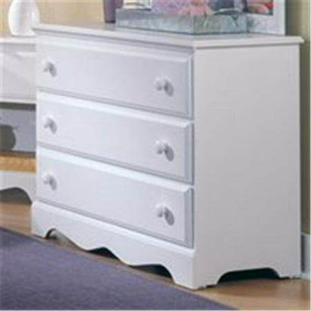 Carolina Furniture 415300 Cottage Single Dresser Chest Of Drawer In  White
