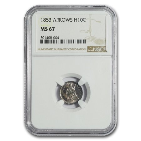 - 1853 Liberty Seated Half Dime w/Arrows MS-67 NGC