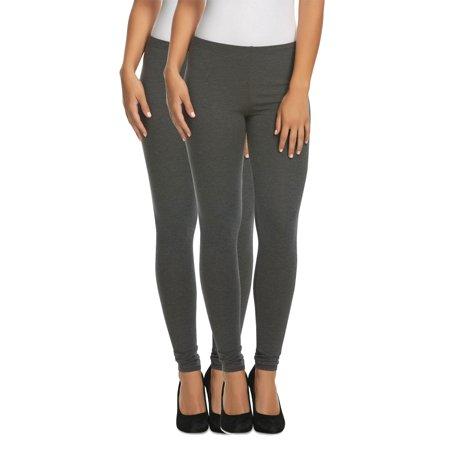 e72626bd8e4ece Felina - Felina | Cotton Modal Lightweight Legging | Yoga Pants | 2-Pack |  Mid Rise (Dark Heather Grey, Small) - Walmart.com