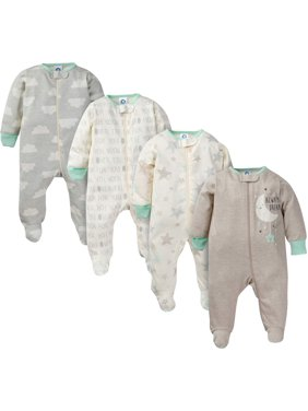 Gerber Baby Boy or Girl Sleep 'N Play Footie Pajamas, 4-Pack