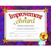"Hayes Improvement Certificate, 8.5"" x 11"", Pack of 30"
