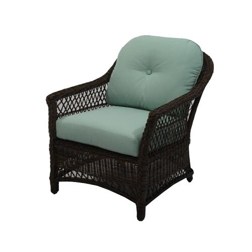 Patio Master BGH05500H60 Bermuda Lounge Chair, All-Weather Wicker, Steel Frame