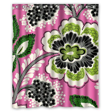 DEYOU Vera Bradley Flower Pink Shower Curtain Polyester Fabric Bathroom Shower Curtain Size 60x72 inches for $<!---->