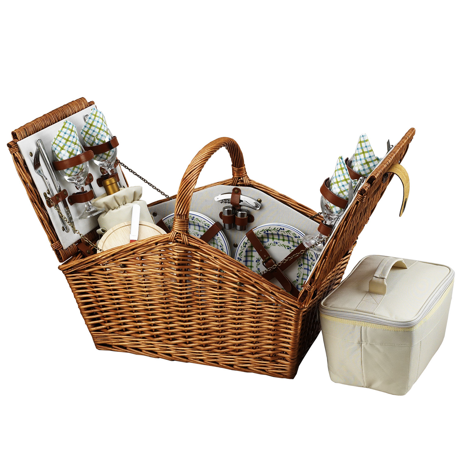 Picnic At Ascot Huntsman Basket for Four in Gazebo