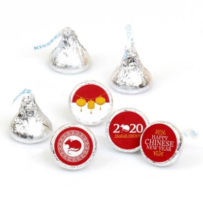 New Year Parties (Chinese New Year - 2020 Year of the Rat Party Round Candy Sticker Favors - Labels Fit Hershey's Kisses (1 Sheet of)