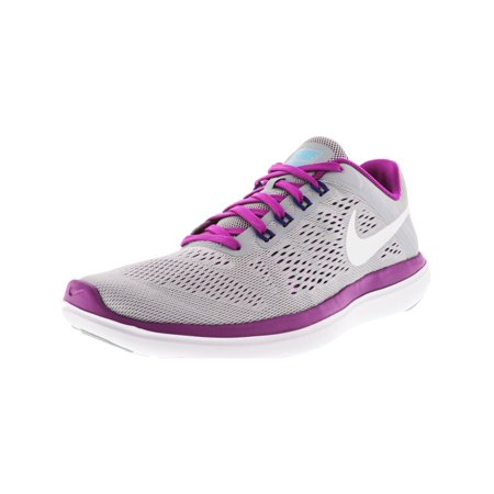 505433cac12d Nike Women s Flex 2016 Rn Wolf Grey   White Hyper Violet Concord ...