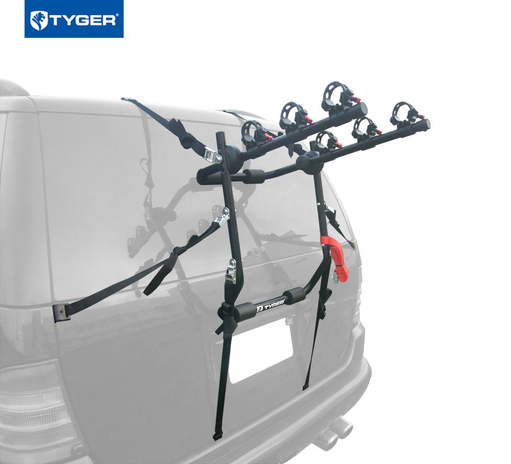 Tyger Auto TG-RK3B203S Deluxe 3-Bike Trunk Mount Bicycle Rack. (Fits most Sedans/Hatchbacks/Minivans and SUVs.)