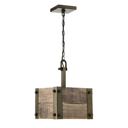 Pendants 1 Light With Bronze Finished Wood Material Medium Base 11 inch 60