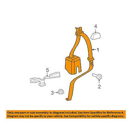 Rear Seat Belt - Jeep CHRYSLER OEM 11-16 Wrangler Rear Seat Belts-Outer Belt Left 1UL39DX9AA