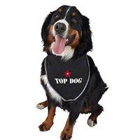ruff ruff and meow doggie bandana, top dog, black, large