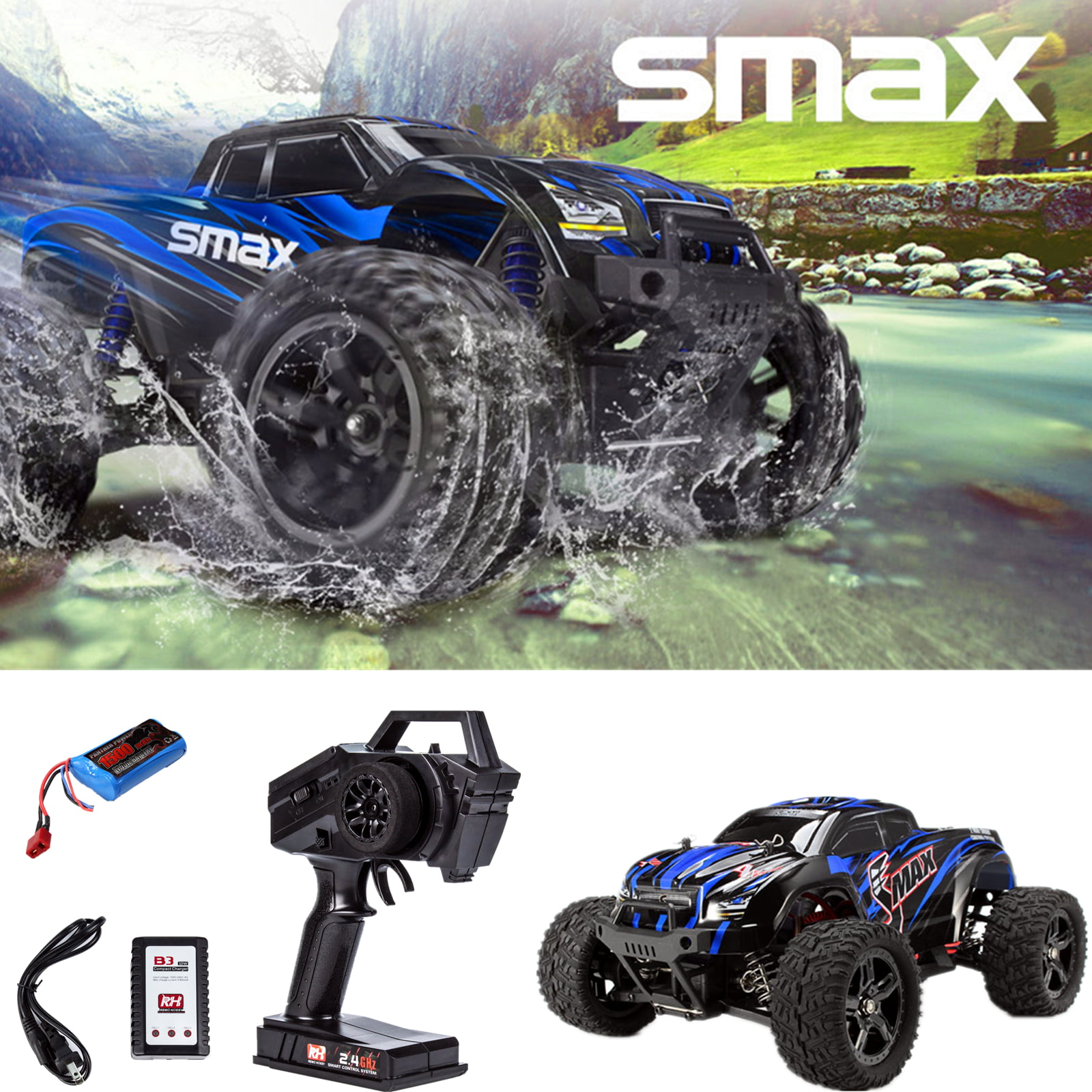 REMO HOBBY 4WD RC Brushed Car 1631 1 16 Scale Off-road Short-haul Monster Truck by Cheerwing