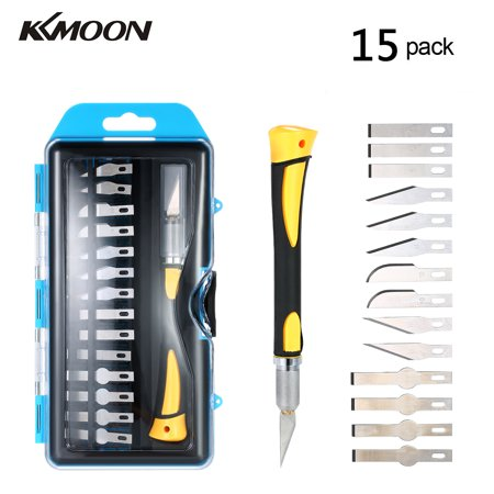Foil Cutting Blade - KKmoon High-quality Precision Engraving Craft Knife Set Wood Carving Pen Tools with 14 Blades and Safety Cap for Cutting and Trimming