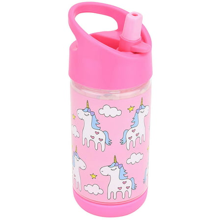 Kids Water Bottle with Straw, Spill Proof, Eco-Friendly BPA Free Non Toxic Plastic Bottles (Unicorn Water bottle)](Kids Water Bottles)