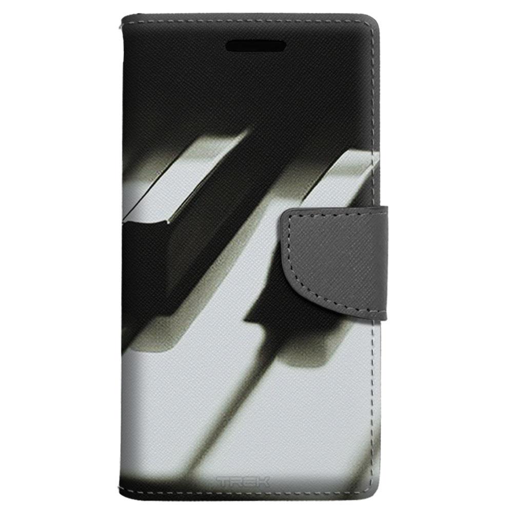 Samsung Galaxy J3 Wallet Case - Piano Keys Case