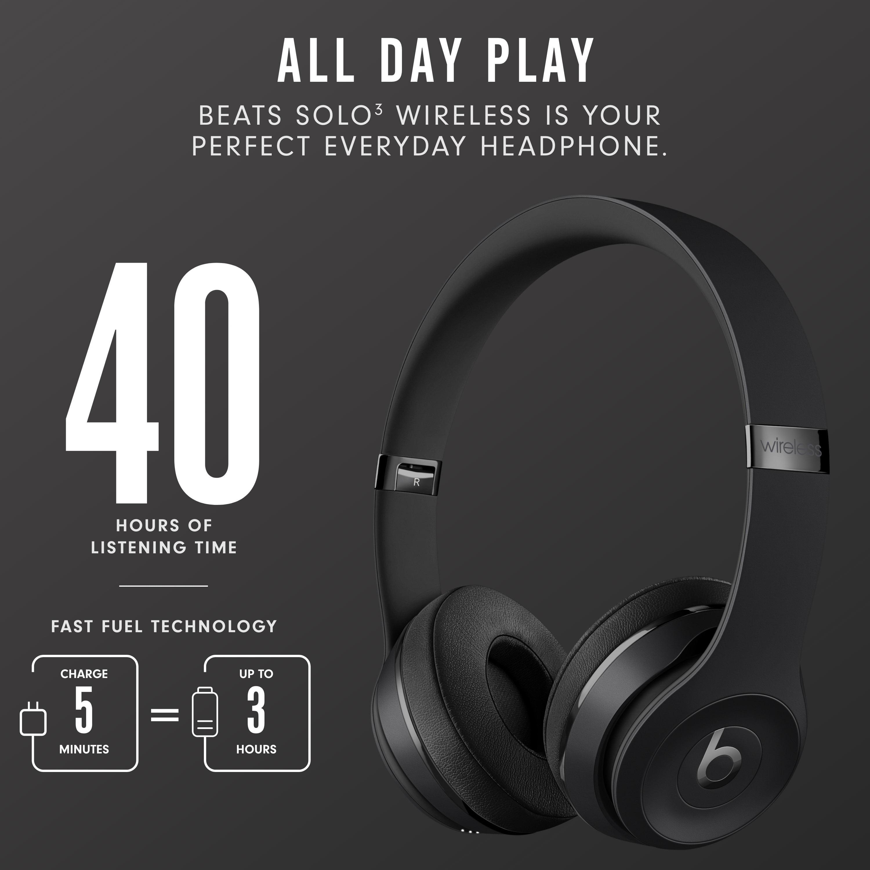 Beats Solo3 Wireless On Ear Headphones With Apple W1 Headphone Chip Satin Silver Walmart Com Walmart Com