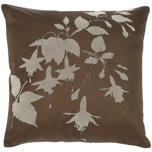 India's Heritage Taffeta Flock Throw Pillow