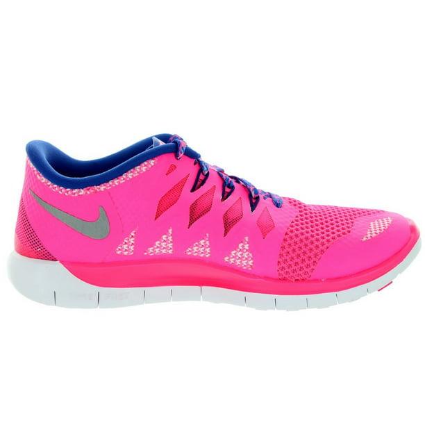 Nike Kids Free 5 0 Gs Hyper Pink Mtllc Silver Gm Ryl Dp Running Shoe Walmart Com Walmart Com