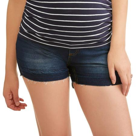 9c04763551909 Maternity Full Panel Released Hem Denim Shorts --Available in Plus Size -  Walmart.com