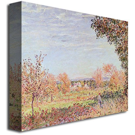 "Best Trademark Fine Art ""September Morning"" Canvas Wall Art by Alfred Sisley deal"