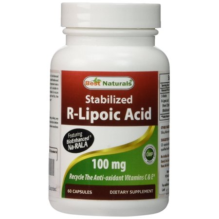 Best Naturals Stabilized R-Lipoic Acid Capsule, 100 mg, 60