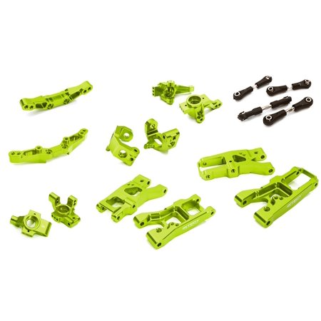 Billet 4 Conversion (Integy RC Toy Model Hop-ups C28347GREEN Billet Machined Suspension Kit Conversion for Traxxas 1/10 4-Tec 2.0)