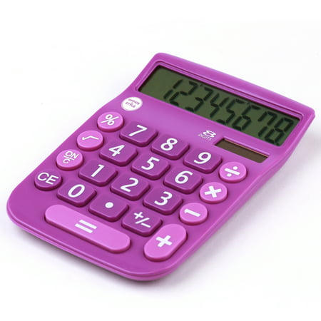 Office + Style 8 Digit Calculator Purple