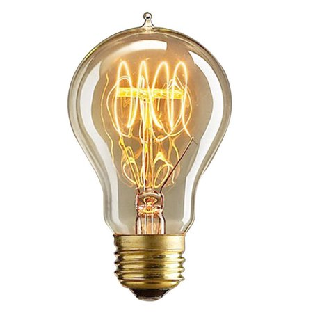 Retro Decorative Edison Tungsten Filament Bulb Creative LED E27/E26 Screw Cap Light Adjustable Incandescent Pointed Tip Bulb Adjustable Incandescent Path Lights