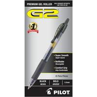 Pilot G2 Premium Gel Ink Pens, Bold Point (1.0mm), Black, 10 Count