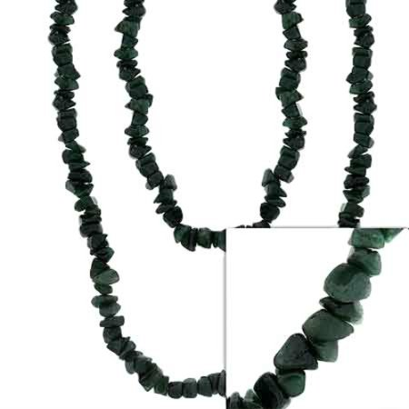 Genuine Aventurine Stone Chip One Strand Layer Necklace 36