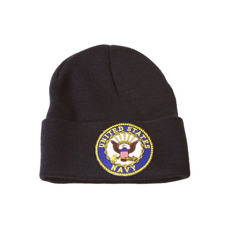 Manchester United Beanie (Delux Military 3D Embroidery Cuff Beanie United States Navy, Black )