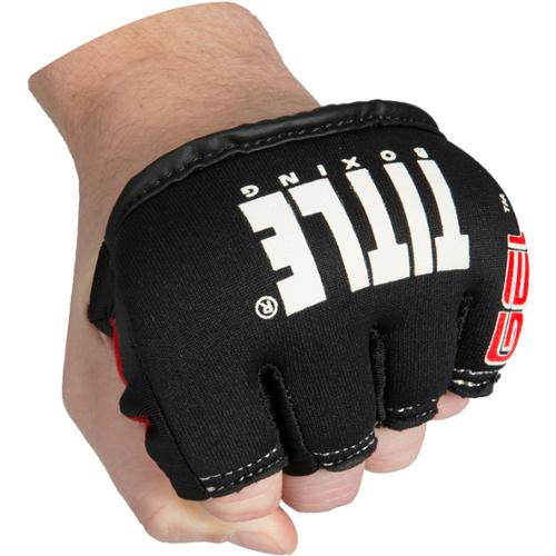 Title Boxing Gel Iron Fist Slip-On Custom Fit Knuckle Shields - Large - Black