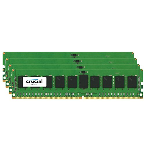 Crucial 64gb Kit [16gbx4] Ddr4 Pc4-17000 Registered Ecc 1.2v - 64 Gb [4 X 16 Gb] - Ddr4 Sdram - 2133 Mhz Ddr4-2133/pc4-17000 - 1.20 V - Ecc - Registered - 288-pin - Dimm (ct4k16g4rfd4213)