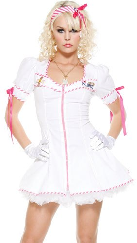Sexy Adult Womens Halloween Costumes Naughty Nurse Candy Striper Candystriper Girl Costume Theme Party Outfit