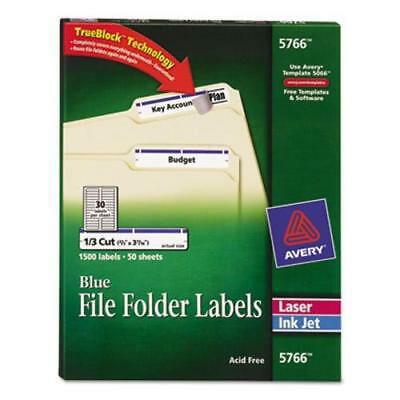 Avery Self-Adhesive File Folder Labels, Blue Border, 1500 per (Avery Labels 16 Per Page No Border)