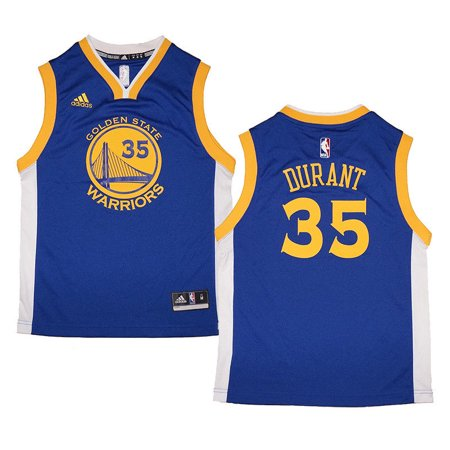 Youth Kevin Durant #35 Golden State Warriors NBA Adidas Royal Blue Replica Jersey (Kevin Durant Party Supplies)