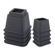Juvale Adjustable Bed Risers/Furniture Risers - Heavy Duty - Supports 1,100 lbs. - Black - 8 Pack Set - 3, 5, and 8 inches