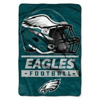 "NFL Philadelphia Eagles Sideline 62"" x 90"" Oversized Micro Raschel Throw Blanket, 1 Each"