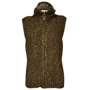 Charter Club Women's Fur Trim Knit Sweater Vest