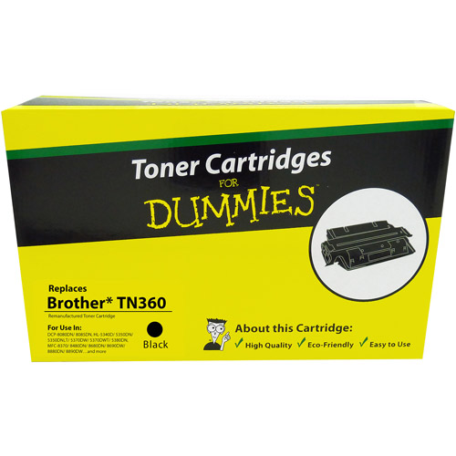 For Dummies Remanufactured Brother TN360 Black Toner Cartridge