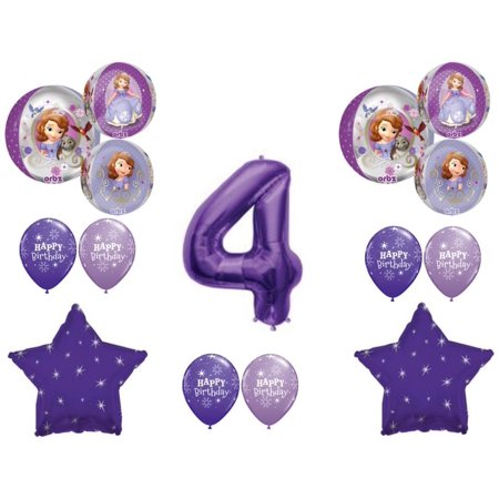Awesome! SOFIA THE FIRST 4th Birthday party Balloons Decoration Supplies Orbz](Sofia The First Party Supplies)